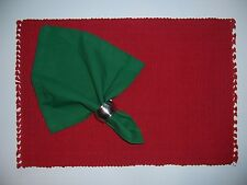 "Green Cotton Napkin, 20"" x 20"", Machine Washable, Matching Placemats Available"