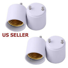 LED Light Bulb Lamp Adapter Socket Converter Holder US SHIP GU24 to E27/E26 4PCS