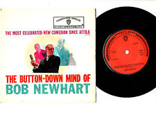 """COMEDY"".BOB NEWHART.BUTTON-DOWN MIND OF.UK 2ND-ISS 7"" EP & PIC/SL.VG+/EX"