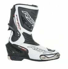 Stivali bianchi per motociclista uomo , Materiale esterno 100 % pelle