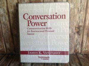 CONVERSATION POWER - JAMES K. VAN FLEET CASSETTE TAPE AUDIOBOOK KIT SET