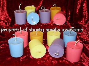 100% Soy Candle Votive Candles Scented One Dozen 12 Choice You Pick Scent F - M