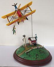 "Vintage Enesco Musical Box "" Flying Circus "" Rare"