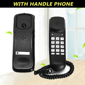 Home Phone Landline Wall Mount Office Wired Desktops With Handle Hotel Reception