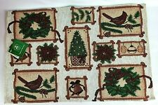 """Christmas Tapestry Placemats by Christmas House Set of 5 Rectangle 12"""" x 18"""""""
