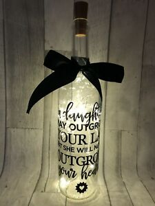 A Daughter May Outgrow Your Lap Light Up Wine Bottle Gift For Daughter