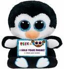 TY Beanie Babies Boo Peek A Boos PENNY the PENGUIN Phone Holder New with Tags