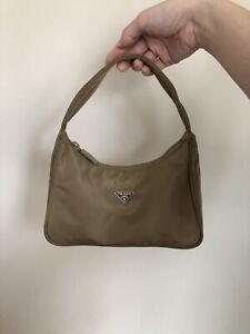 AUTHENTIC Vintage Prada Tessuto Nylon Mini Hobo Bag Khaki