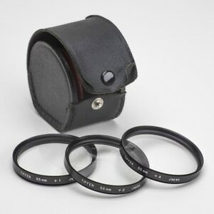 TIFFEN 55mm CLOSE-UP DIOPTER LENS SET OF THREE WITH CASE
