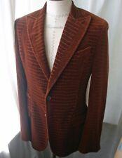 ROBERTO CAVALI Men's Rust Gator Velvet Jacket 38