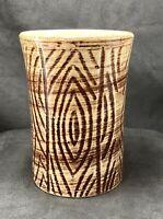 RARE Vintage Ceramic Wood Grain Tiki Mug Cup Tumbler MCM Pottery Tree Unmarked