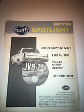 Hella trailer socket and Bracket VC Valiant 1 page brochure