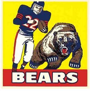 Chicago Bears   Vintage Looking  1960's  NFL Football   Die Cut  Decal  Sticker