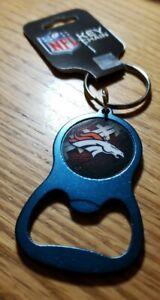 Denver Broncos Navy Blue Bottle Opener Keychain NEW