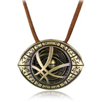 1x Strange Dr.Doctor Pendant Eye of Agamotto Chain Necklace Marvel Movie Cosplay