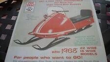 1968 Vintage FOX TRAC Snowmobile Brochure