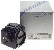 HASSELBLAD black 503CXi camera 6x6 waist level viewfinder boxed papers mint- cap