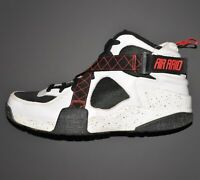 Nike Air Raid Basketball Shoes Sz 12 White Black Red 642330-100 Outdoor Use Only