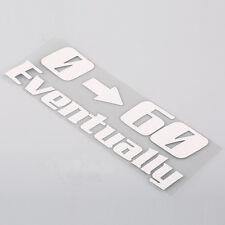 Car SUV Window Rear Trunk Bumper 0-60 Eventually Logo Funny Vinyl Sticker Badges
