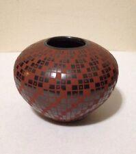 Mata Ortiz Pottery Signed Rene Pedregon Mexican Vase Bowl