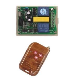 220V 2 CH 1/2/3 Remote Control Motor Reversing Garage Door Wireless Switch