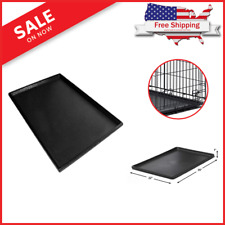 Dog Crate Tray 29 x 19 Pan Pet 30 to 36 Inch For Kennel Cage 30in to 36in