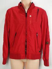 G-Star Raw Denim Blouson Macc Bomber Flight Zip Red Hoodie Jacket Coat Medium