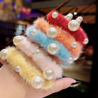 Candy Color Pearl Hair Accessories Ponytail Holder Hair Band Hair Tie  LY