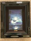 Make offer- Christian Reese Lassen 'Maui Moon II'- s/n canvas print framed
