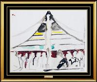 Joseph Stella Original Watercolor Painting Authentic Brooklyn Bridge Artwork NYC