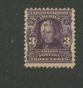 1901 United States Andrew Jackson 3 Cent Postage Stamp #302 Mint Never Hinged