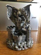 Dragon 2 Tea light Candle Holder -Fantasy Mythical Statue Figurine Gothic