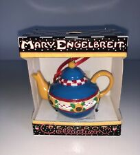 New Mary Engelbreit Collection Miniature TeaPot Mini Christmas Ornament