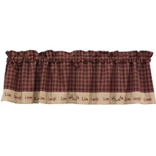 """Sturbridge Live Laugh Love Country Valance 60"""" x 14"""" Fully Lined Park Designs"""
