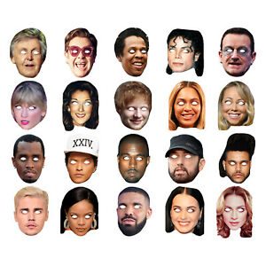 Celebrity Masks Musicians Singerss Pack For Costume Party Multi Packs Wholesale