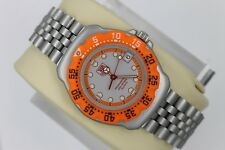 Tag Heuer 373.513 Professional Watch Womens Mens MIDSIZE ORANGE Gray SS Silver