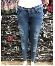 TATTERED  BLUE SKINNY JEANS_LH  SIZE 32