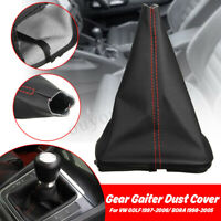 Car PU Leather Gear Shift Stick Gaiter Boot Dust Proof Cover for VW GOLF BORA