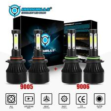 9005+9006 Combo 4-Sides LED Headlight 4800W 720000LM High Low Beam 6000K White