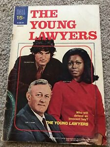 Young Lawyers (1971) #1 Dell TV Photo Cov Lee J Cobb Zalman King Judy Pace FN/VF