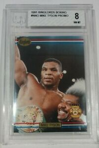 1991 RINGLORDS MIKE TYSON SAMPLE NM-MT BVG 8 sub grades 10,8,8,8.5 🔥