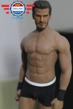 Custom 1/6 David Beckham Head Sculpt w/ PHICEN M33 Seamless Muscular Male Body