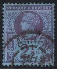 1887 SG 201 2 1/2d Purple on Blue Jubilee French ARRIVEE CDS