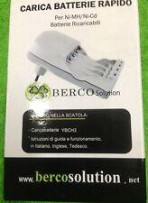 Carica batterie AAA/AA rapido BERCO Ni-Mh/Ni-Cd mod. YBCH3