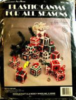 Needlecraft Ala Mode Plastic Canvas For All Seasons W91-798 16 Block Ornaments