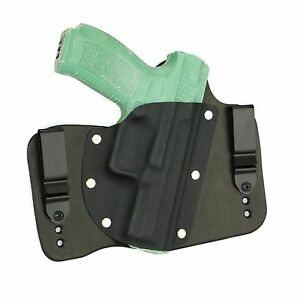 FoxX Holsters Leather & Kydex IWB Hybrid Holster Canik TP9SF Black Right Conceal
