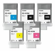 5 ORIGINAL TINTA CANON pfi-107mbk pfi-107bk pfi-107c pfi-107m pfi-107y CARTUCHO