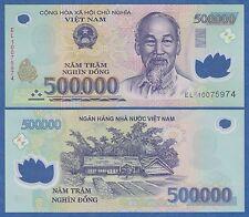 Vietnam 500,000 Dong P 124 2010 UNC Low Shipping! Polymer 500000 Viet Nam