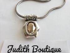 BRIGHTON  CLARITA  Oval Yellow Gem Crystal  Pendant Necklace