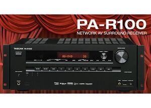 TASCAM PA-R100 Network AV 5.2 - 3D/4K Receiver/Pre-amplifier S/N: 0030185 -NEW